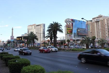 Daytime scenes from Las Vegas strip, nevada,usa,april 2013