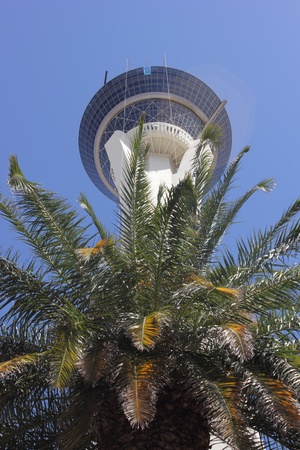 stratosphere:  The Stratosphere Hotel and Casino along the Las Vegas strip, Nevada,april 2013 Editorial
