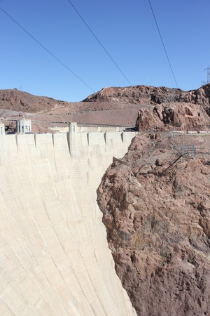 The famous Hoover Dam, between Arizona and Nevada - USA, april 2013 Stock Photo - 19183959