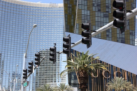 Traffic control lights along the Las Vegas strip, april 2013 Stock Photo - 19184457