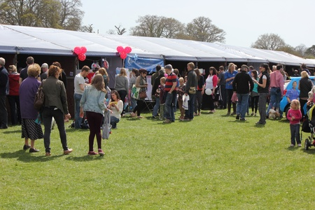 crowds at the New forest spring fair,hampshire,england, 5th may 2013