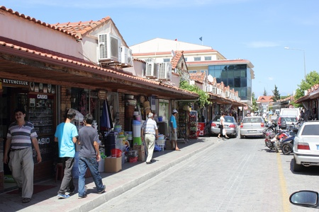 fethiye: Views of the local streets in Fethiye in Turkey, 2013