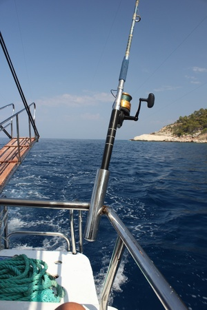 A fishing trip in Turkey, trolling for the fish, july 2013 photo