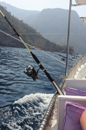 trolling: Un viaje de pesca en Turqu�a, trolling para los peces, julio 2013