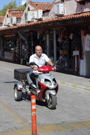 three wheeler: A three wheeler mode of transport in Turkey, 2013