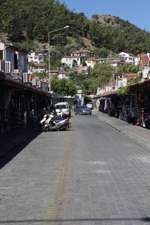 fethiye: A street scene at Fethiye in Turkey, 2013 Editorial