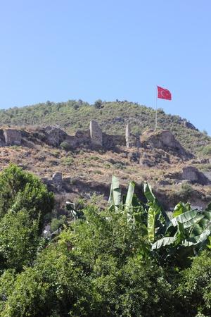 fethiye: The ruins of Fethiye castle, Turkey, 2013