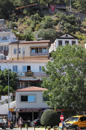 Turkish housing on a mountain side in Fethiye , Turkey, 2013 photo