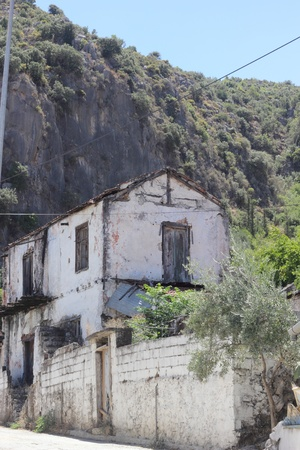 Very old housing at Fethiye in Turkey Stock Photo - 21765633