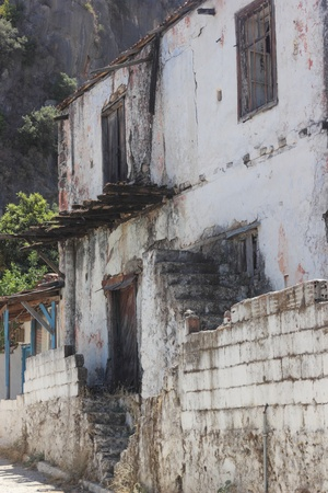 Very old housing at Fethiye in Turkey photo