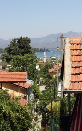 A scenic view Fethiye housing in Turkey photo