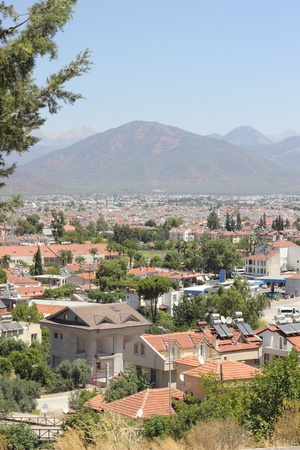 A scenic view Fethiye housing in Turkey with mountains Stock Photo - 21765756
