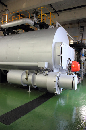 refit: Industrial duel fuel 35000 lbs steam boiler ready for steaming after having a refit by engineers
