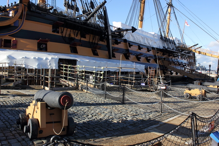 flagship: Tourists visiting Hms victory which was Admiral Lord Nelsons flagship Editorial