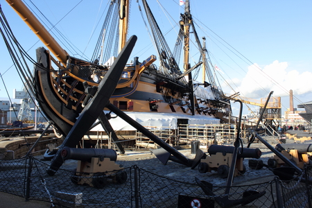 hms: Tourists visiting Hms victory which was Admiral Lord Nelsons flagship Editorial