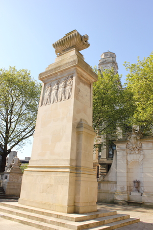 guildhall: The Portsmouth Cenotaph, the 1st World War Memorial, The Cenotaph is in the Guildhall Square and is accessible at all times Editorial
