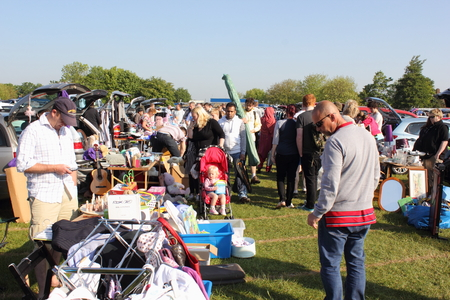 A carboot sale on a field in portsmouth,this is a great way to recycle unwanted items