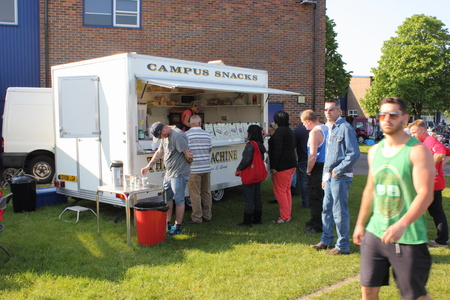 A refreshment van at a carboot sale on a field in portsmouth