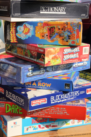 A collection of boxed family games Editorial