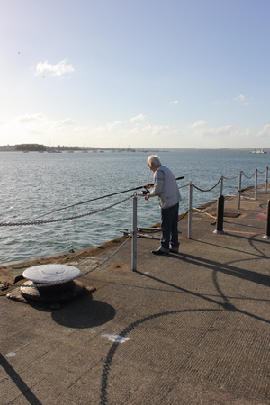dockside: Fishing on the dockside Editorial
