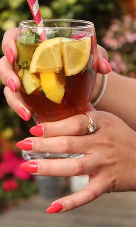 A summertime fruit drink photo