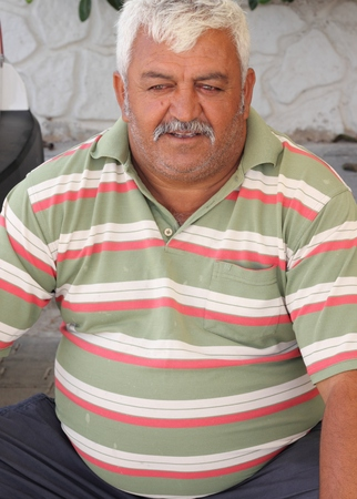 turkish man: A white haired turkish man