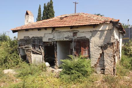 rickety: An old building in disrepair, Calis, Turkey 2014