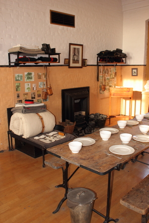 One of the dinning and kitchen areas that was used by the solders during the protection of portsmouth during the world wars at Fort Nelson.Fort Nelson is a superbly restored 1860s Victorian fort overlooking Portsmouth Harbour.