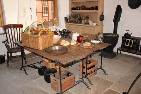 solders: One of the dinning and kitchen areas that was used by the solders during the protection of portsmouth during the world wars at Fort Nelson.Fort Nelson is a superbly restored 1860s Victorian fort overlooking Portsmouth Harbour.