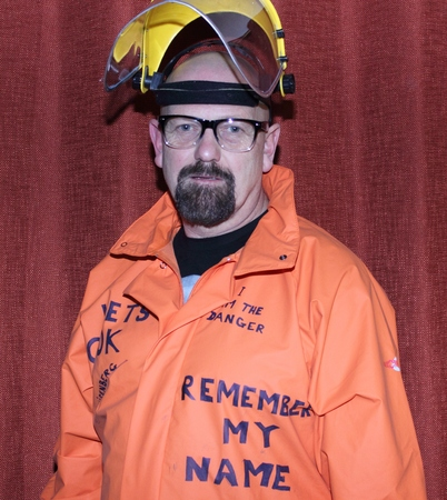 breaking: A man dressed as a breaking bad character