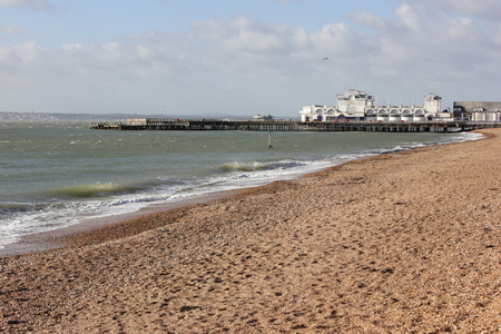 southsea: South Parade pier along southsea sea front in portsmouth , uk 2015 Editorial