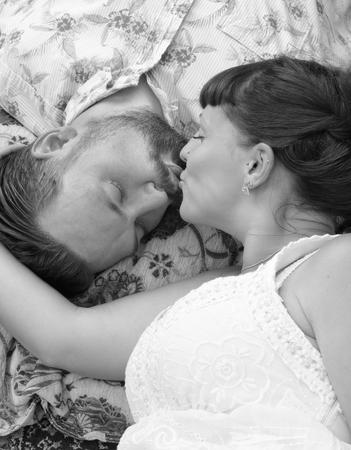 Kissing laying down