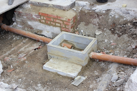 pipework: A new storm drain with two inlets being built