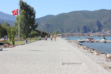 fethiye: The newly built walkway between Calis and Fethiye in Turkey