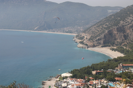 oludeniz: A view looking over to Oludeniz from the mountain road