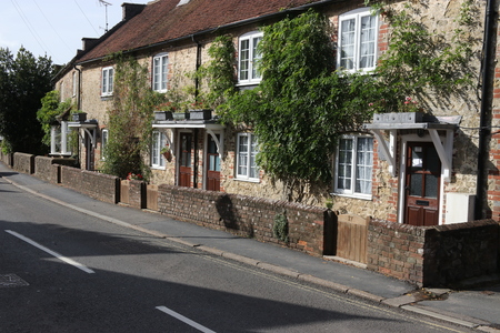 typically british: 29TH SEPTEMBER 2016, LIPHOOK,ENGLAND: Traditional english housing along a road in the village of Liphook in england, 29th september 2016