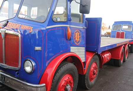 26TH DECEMBER 2016,WICKHAM,HANTS: Old retro classic lorries at a show in wickham, england on the 26th december 2016