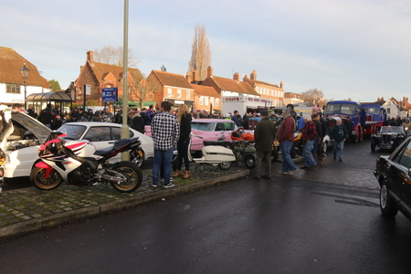 hants: 26TH DECEMBER 2016,WICKHAM,HANTS: Old retro classic cars at a show in wickham, england on the 26th December 2016 Editorial