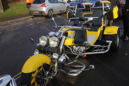 26TH DECEMBER 2016,WICKHAM,HANTS: An old retro trike at a classic car show in wickham, england on the 26th december 2016
