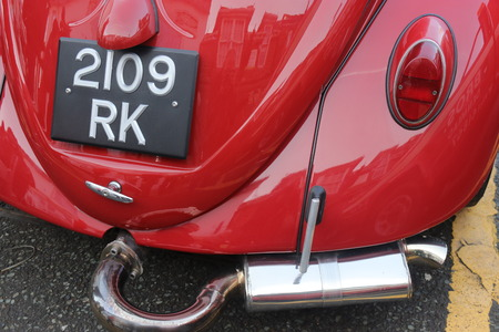 hants: 26TH DECEMBER 2016,WICKHAM,HANTS: An old retro classic car at a show in wickham, england on the 26th december 2016