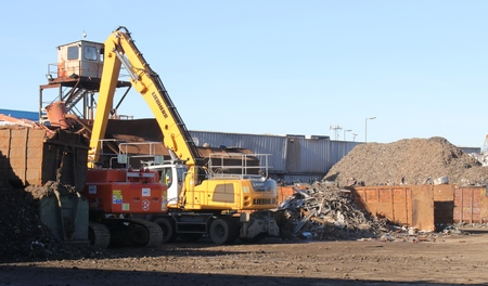 metalschrott: Den 18. Januar 2016 PORTSMOUTH, ENGLAND: Ein Recycling von Metall scrapyard in Portsmouth, England, 18. Januar 2016