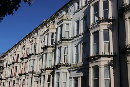 18TH JANUARY 2016, PORTSMOUTH,ENGLAND: Typical Victorian apartment homes in Portsmouth, england, 18th January 2016 Editorial