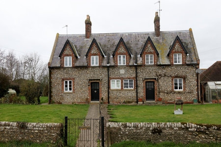 21ST FEBRUARY 2017, DONNINGTON,CHICHESTER,SUSSEX,ENGLAND: An old flint built english home in Donnington, chichester, 2017 Editorial