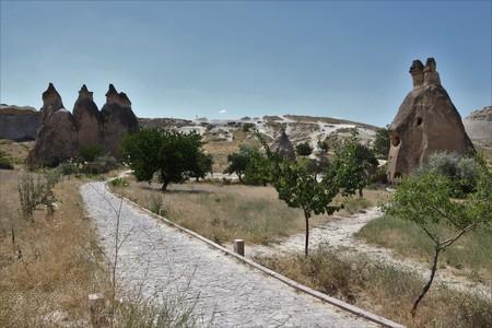 27TH JULY 2017, CAPPADOCIA,TURKEY: Tourists visiting the famous Fairy Chimneys in Cappadocia - Turkey, 27th july 2017