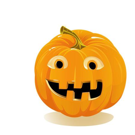 Halloween pumpkin, Jack O Lantern isolated on white background Stock Vector - 22653316