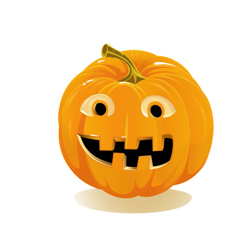 Halloween pumpkin, Jack O Lantern isolated on white background