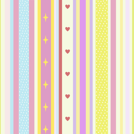 Bright seamless pattern of colored stripes in pastel tones Illustration