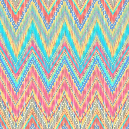 Ethnic zigzag, pattern in bright colors Aztec style. Can be used as seamless pattern or  vector background Иллюстрация