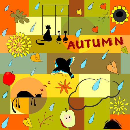 Funny autumn background
