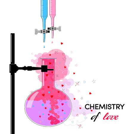 Química del Amor Foto de archivo - 35302397
